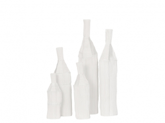 Paper Clay Bottle WHITE1